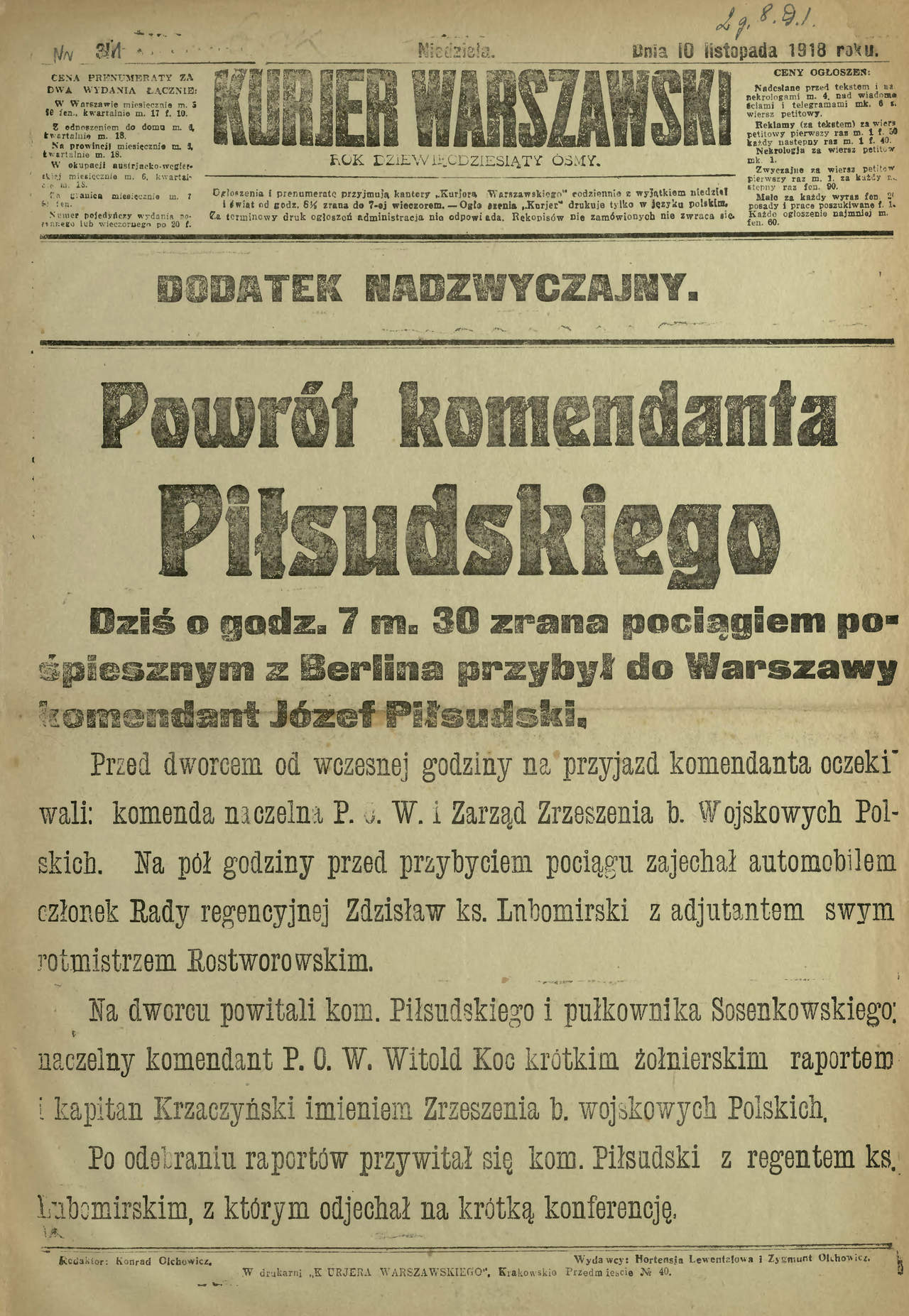 Mariusz Nowik On Twitter 100lattemu Józef Piłsudski O