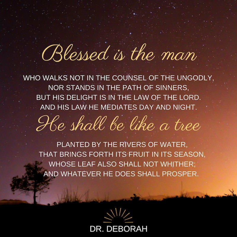 Blessed is the man  Who walks not in the counsel of the ungodly,  Nor stands in the path of sinners, But his delight is in the law of the Lord  PSALM 1:1-3 .#drdeborah #bealight #alexandriava #arlingtonva #bealight #intentionalparenting #igparenting #igtips #womenintheword<br>http://pic.twitter.com/AlWG8vUXuP