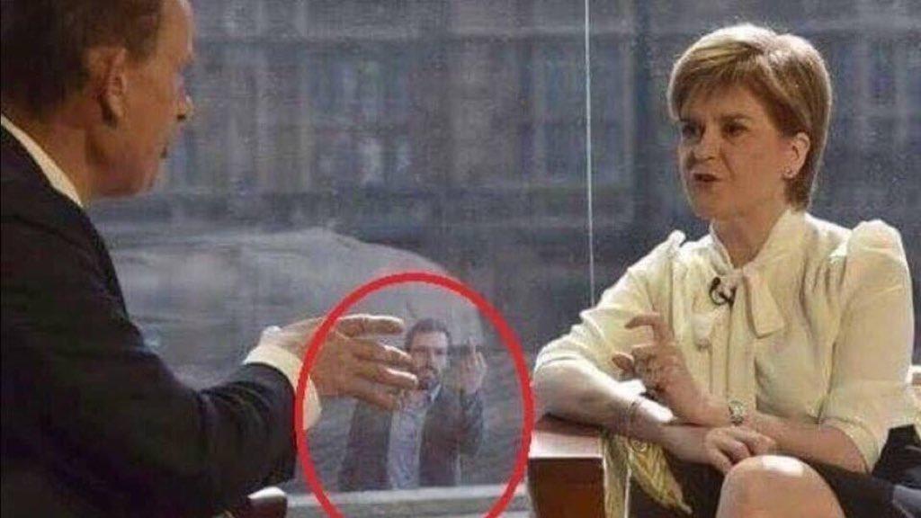 @MajorDMalpas He was seen in his town tweeds, neatly coiffed, waving to Nicola Sturgeon? #Scrotumgate https://t.co/0DyofVA523