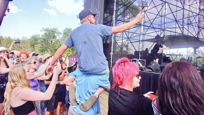 This is what happens when you have @Goodlucklive on stage! #PrimeFest Photo