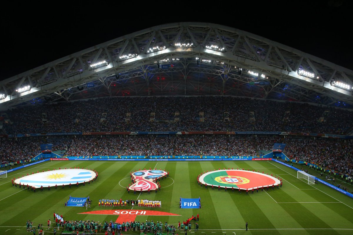 Our featured #WorldCup team this week is @Uruguay 🇺🇾🙌 Our featured Russia 2018 venue this week is Sochi 🏟️ So, time to reminisce about Match #49, #URUPOR...