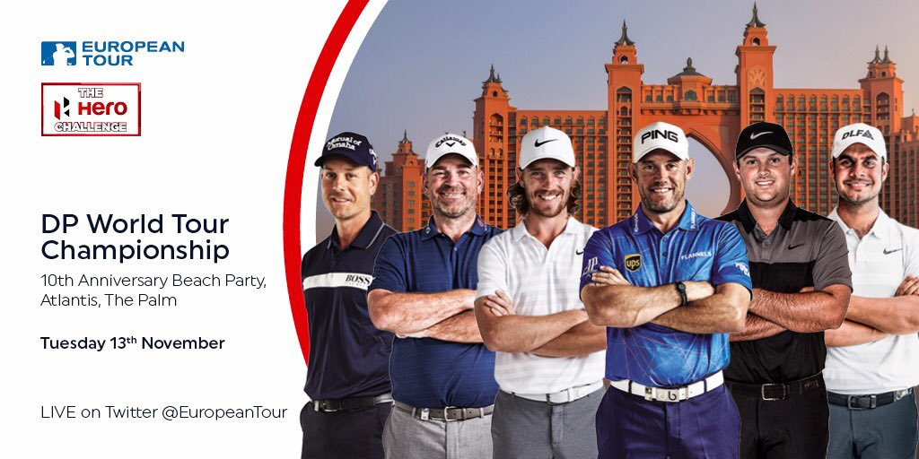 Can't wait to finish the season in Dubai. Before the serious stuff starts on Thursday, it's #HeroChallenge time on Tuesday