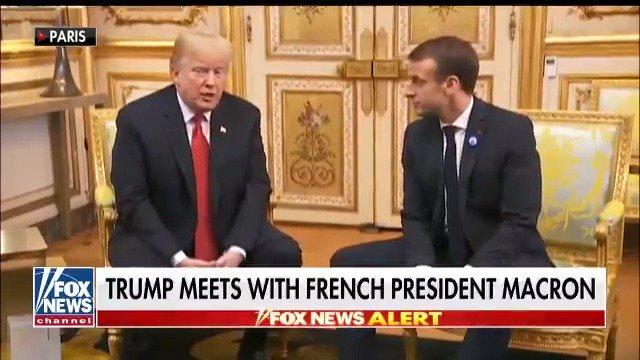 FOX NEWS ALERT: President Trump sits down with French President Macron