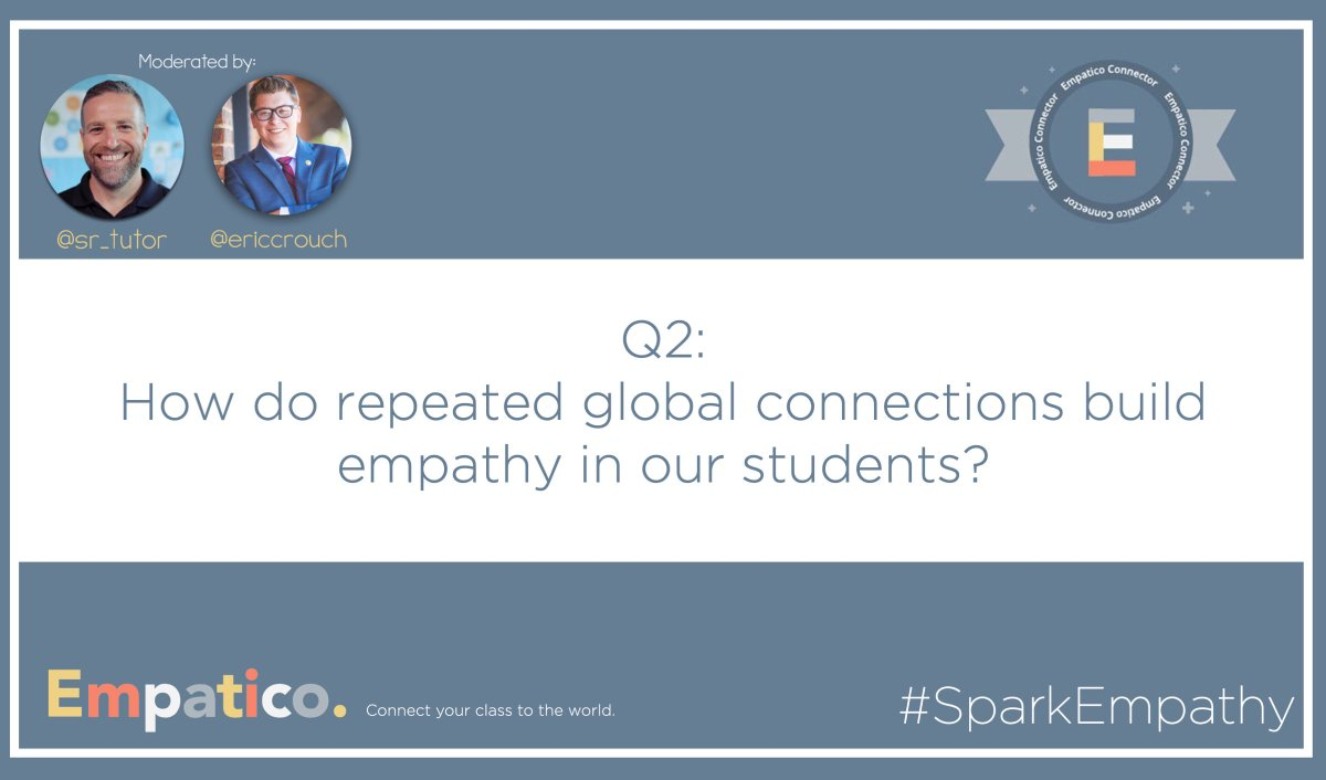 Q2: How do repeated global connections build empathy in our students? #SparkEmpathy