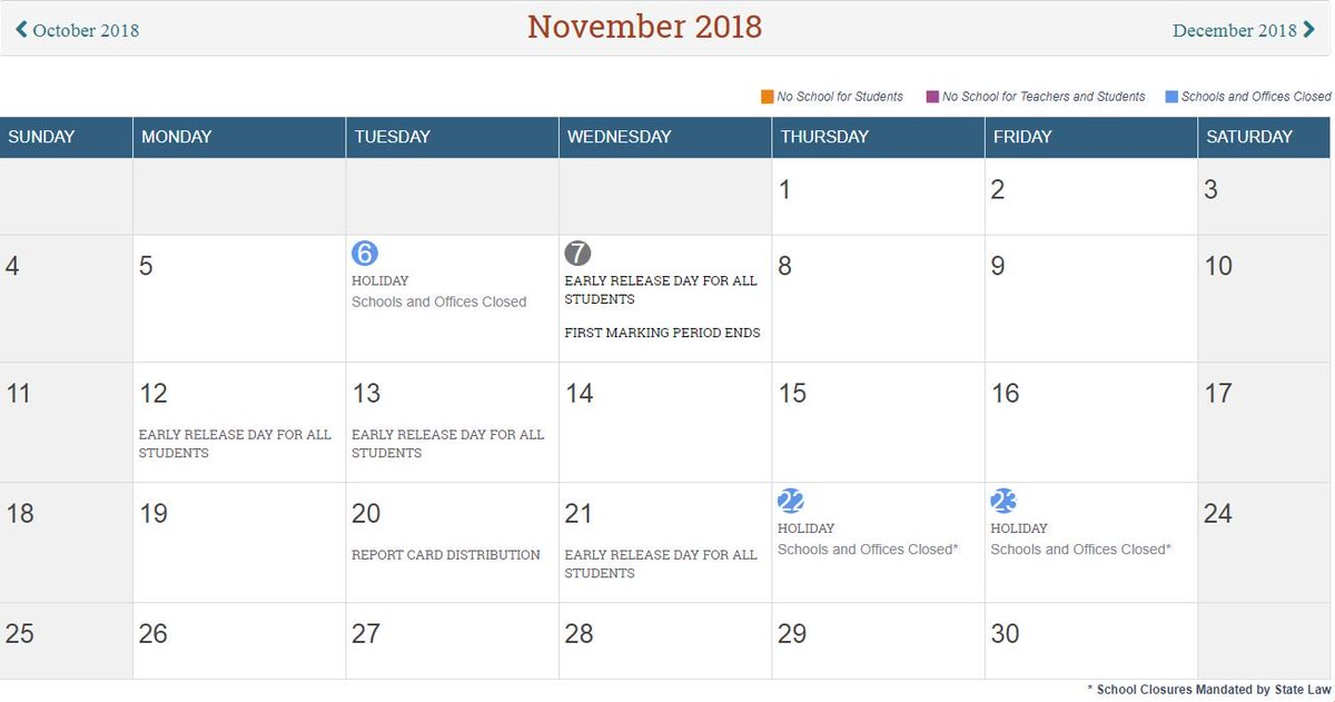 Mcps On Twitter Calendar Reminder Monday Nov 12 And Tuesday