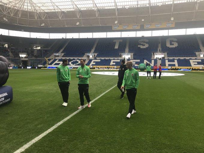 Hurra, hurra - die Augsburger sind da! 🙌 #FCA #TSGFCA Foto
