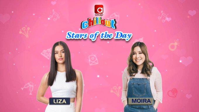 Join the fun kwentuhan tomorrow with our Stars of the Day, Liza Soberano & Moira Dela Torre! Kaya don't forget to log on to ! #ASAPChillout #HimigHandog2018FinalsOnASAP Photo
