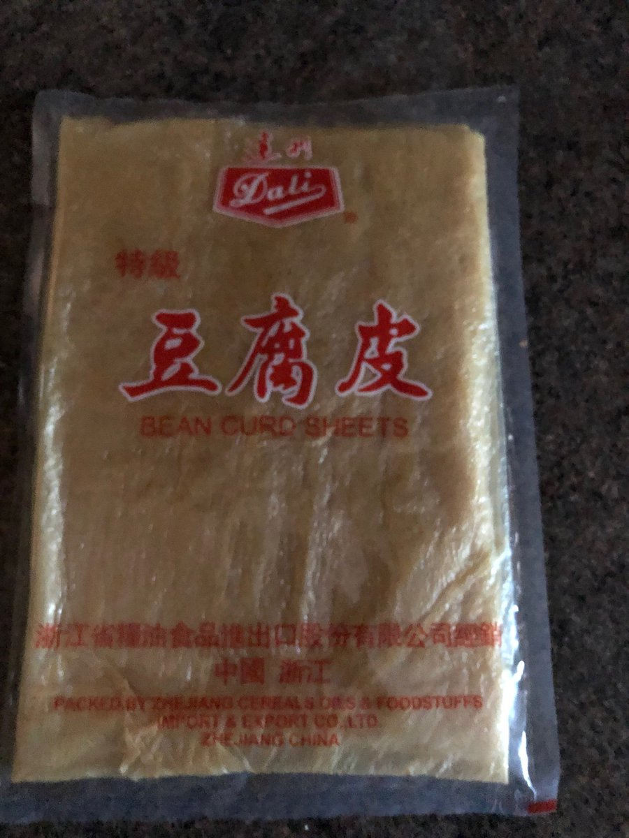 Does anyone have any good recipes for these tofu sheets? https://t.co/eLy4mY3WJ5