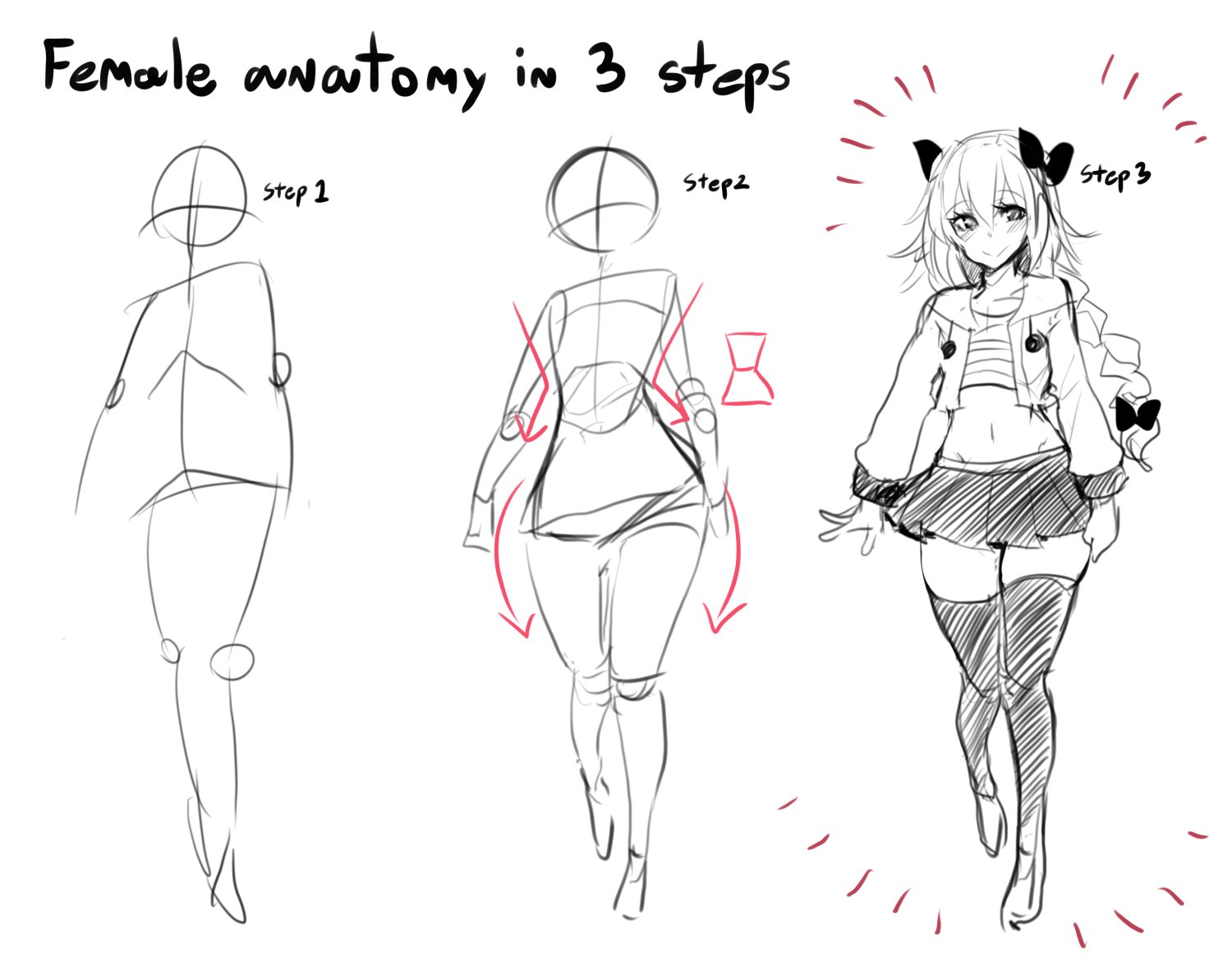 It's just a photo of Unusual Women Anatomy Drawing