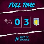 FT: #DCFC 0-3 #AVFCWhat. A. Statement. Free-flowing, brilliant football. Three superb goals to match. @jmcginn7, @tammyabraham and @ConorHourihane on the scoresheet as Villa run riot at Pride Park. The new era has officially begun. 👊#PartOfThePride