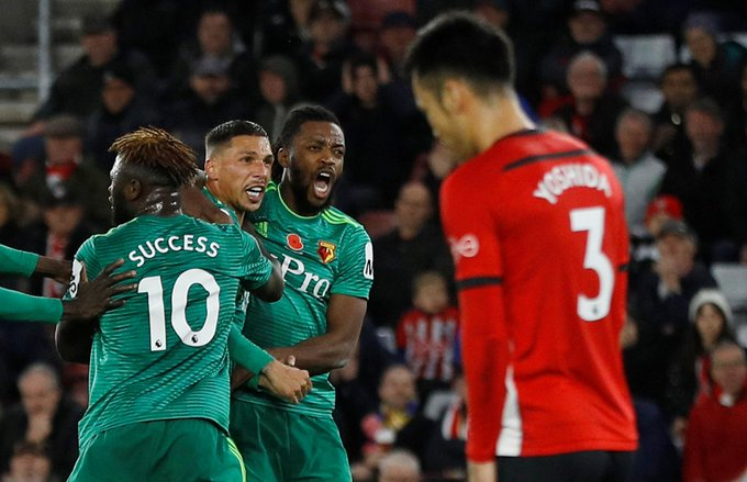 FULL-TIME Southampton 1-1 Watford Watford fightback through Holebas to take a point after Gabbiadini's opener #SOUWAT Photo