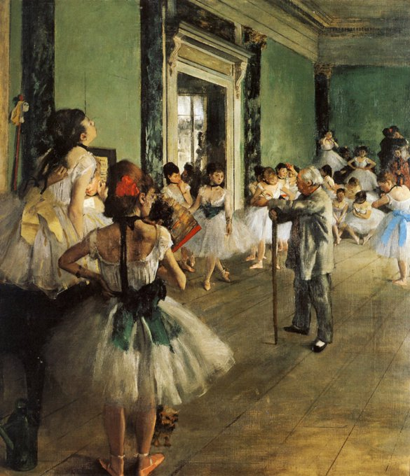 La musica è il pilastro della danza, sorregge qualunque ritmo che si accorda con una dolce melodia. - Francesca Bastone - #ScrivoDiMusica 🎨 Degas La classe de danse, 1874 #ScrivoArte Foto