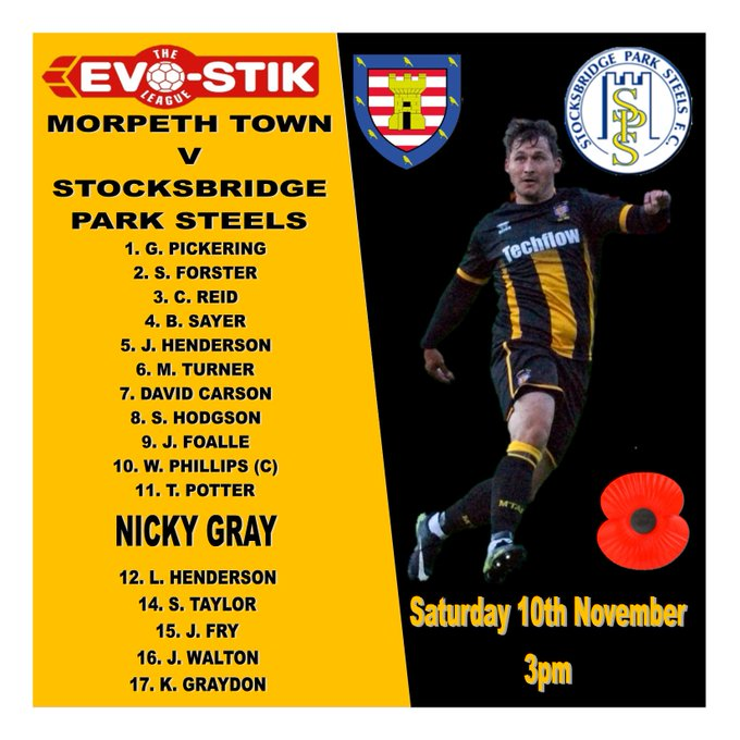 Morpeth have the following starting XI and substitutes for their @evostikleague game. #Highwaymen Photo