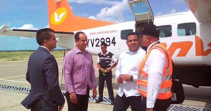 #Economía Conviasa inaugura ruta áerea Falcón – Aruba Foto