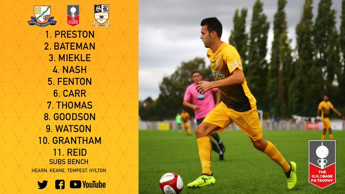 STARTING XI✅: Our team to face @srfcofficial in the Emirates FA Trophy. Photo