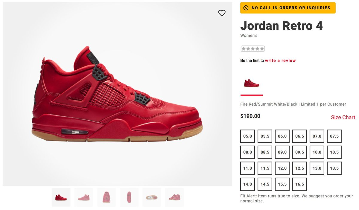 J23 Iphone App On Twitter Jordan 4 Retro Wmns Fire Red 10am Et With Free Shipping Foot Locker Https T Co 3vqglctpre Eastbay Https T Co Thwcjwdomr Footaction Https T Co V4jmr8qla8 Champs Https T Co Te7yofezoi Sizes 5w 16 5w Available