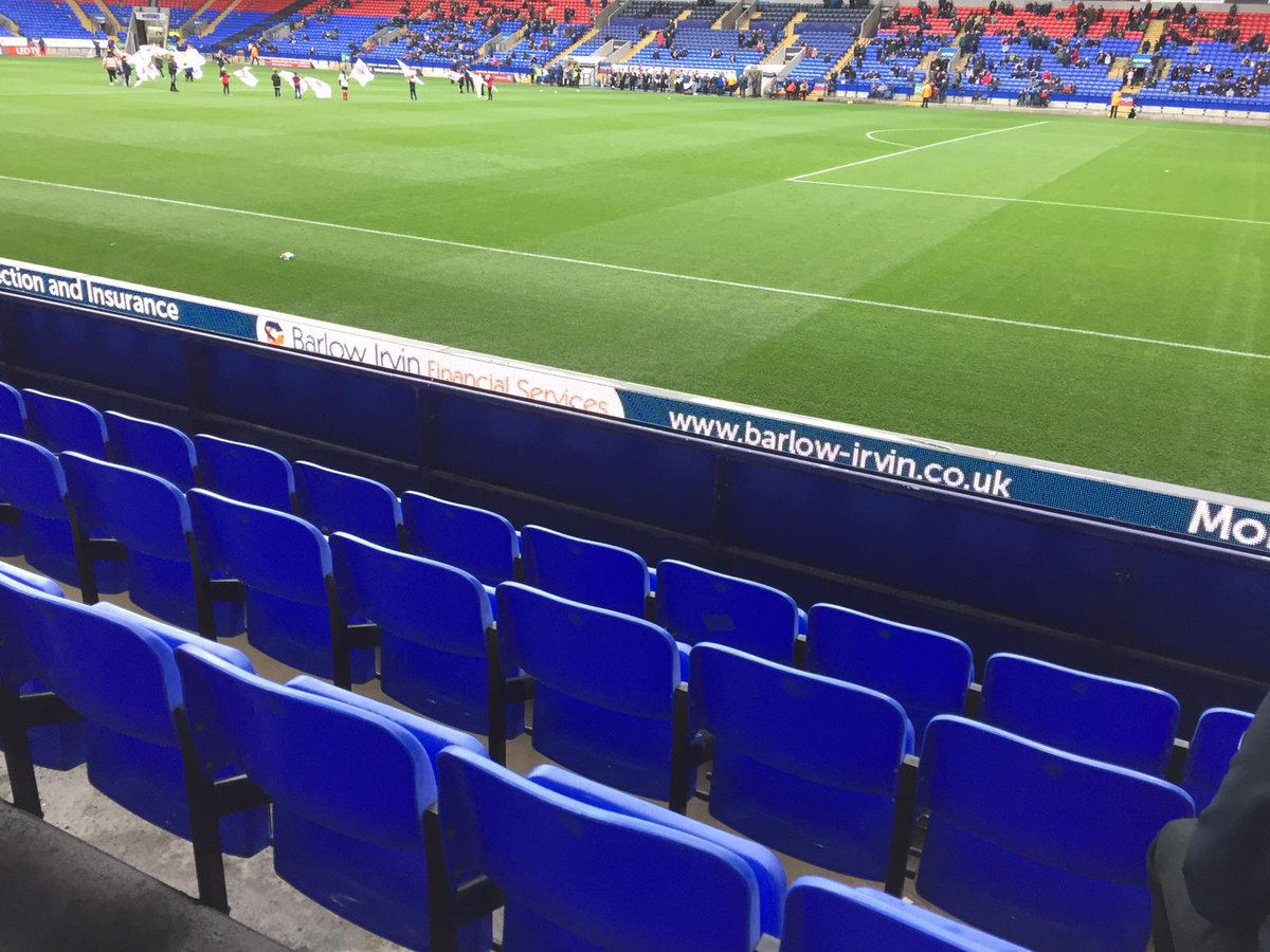 Barlow Irvin's @garyox is at the @OfficialBWFC game today and great to see our brand up close pitch-side thanks to @BWFCBC #bolton #bwfcbc #football