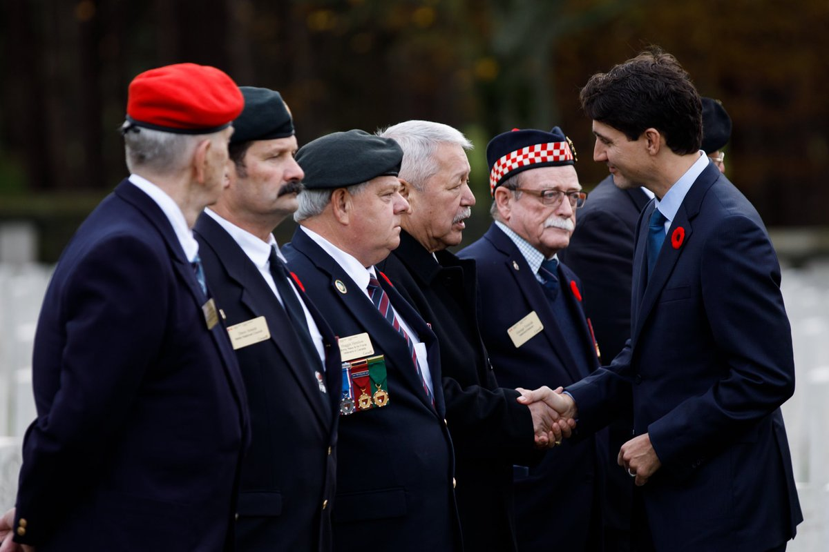 Today, I joined our delegation of Canadian veterans at Vimy Ridge — to thank them for their service and to pay tribute to those who made the ultimate sacrifice in the name of our freedom.   We will never forget. #CanadaRemembers