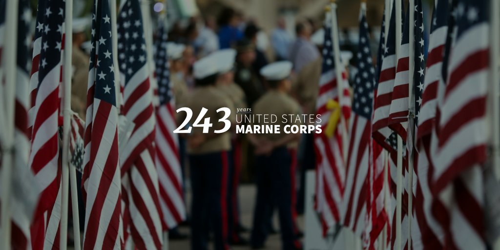 Happy 243rd birthday to our great @USMC—and a huge thank you to all who serve. Semper Fi!