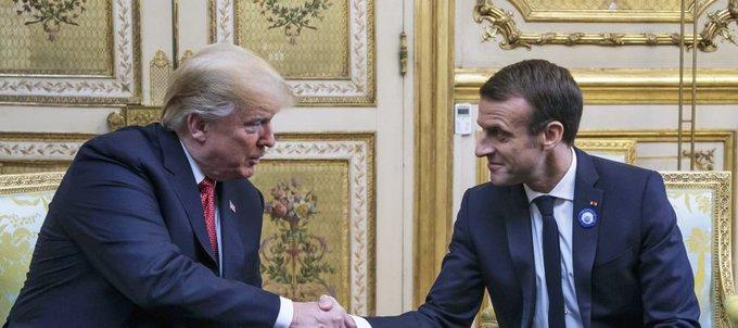 Trump y Macron se reúnen en el Elíseo: coinciden en que Europa debe aumentar su aportación militar Foto