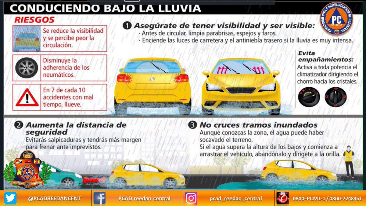 RT @PC_Aragua: #15Jul |  En estos tiempos de lluvias maneja con precaución evita hechos que lamentar. https://t.co/p5yiWTsHPL #AtenciónInte…
