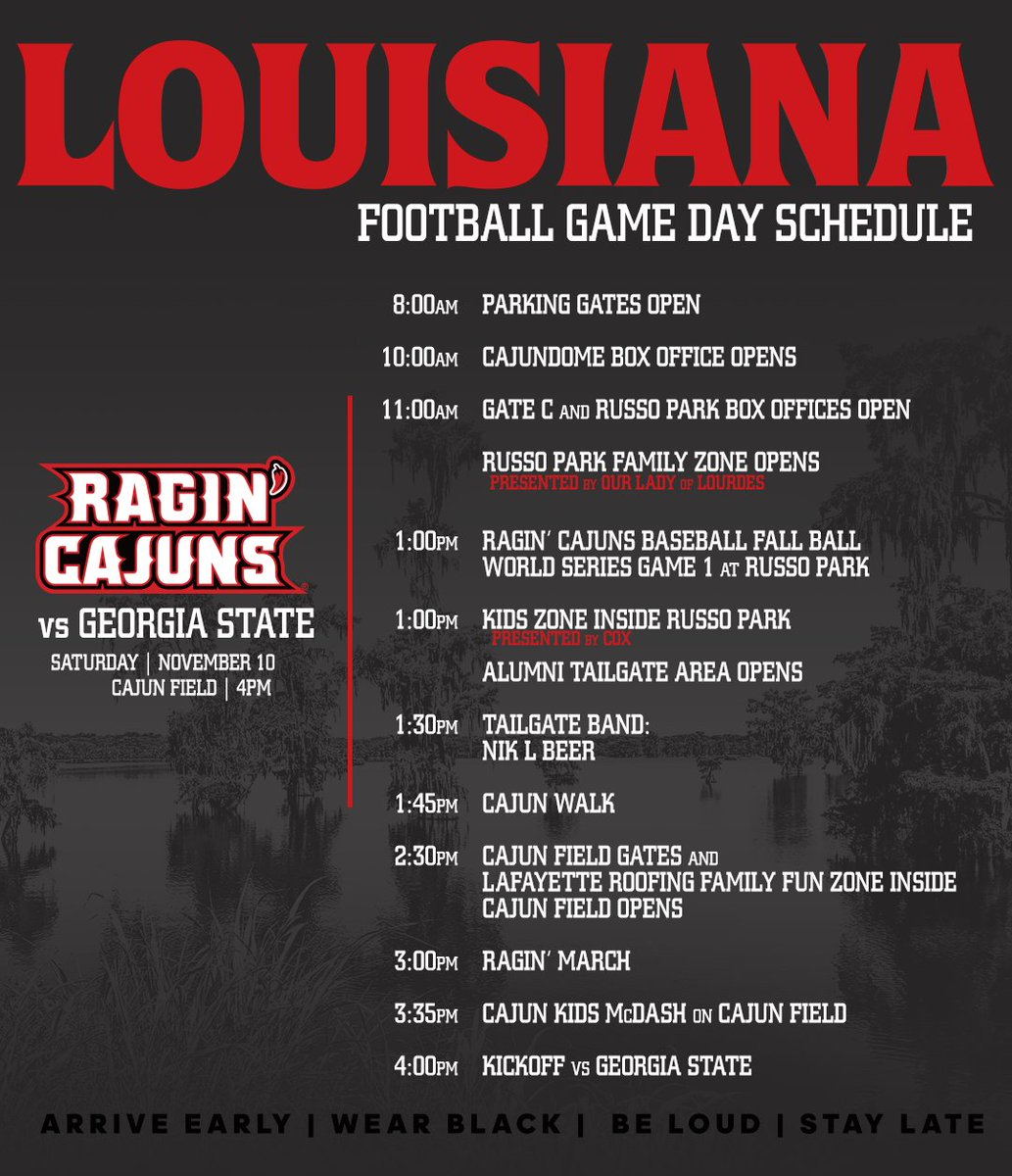 7f5b712c4f7964 2018 Gameday Central - Cajun Field - Louisiana Athletics