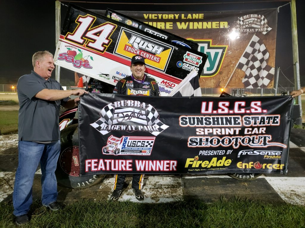Bubba Raceway Park >> Stlracing Jdearing On Twitter Tony Stewart Grabs Uscs Win At