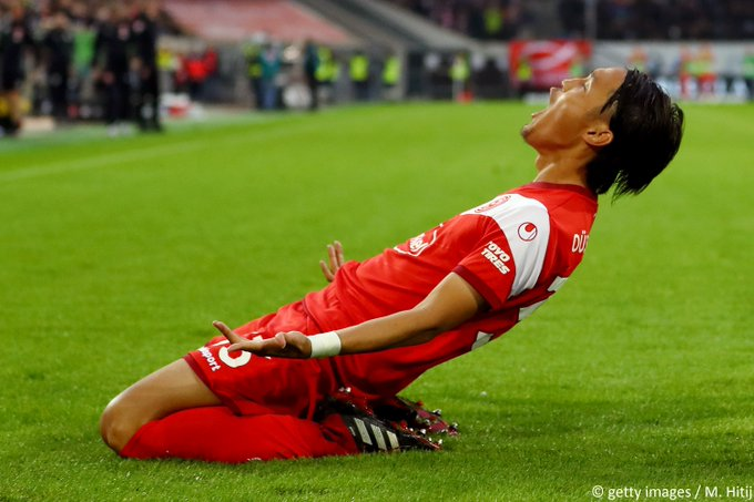 A long time coming! Takashi Usami has scored his first #Bundesliga goal in 6 years. #F95BSC Foto
