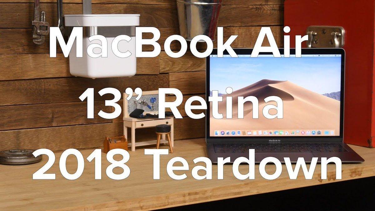 Watch the new #MacBookAir come apart in under three minutes: https://t.co/PGgCIRUiqi
