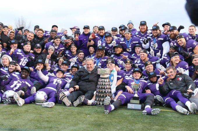 #YatesCup Champions! 🏆🐎💜 Next up: #MitchellBowl 🏈 Saturday, November 17 📅 TD Stadium 📍 Photo