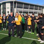 Well done to the Cornwall Girls Schools squads who played West Glamorgan today, the U14s won 2-1 and U16s won 4-3 after extra time!  Congratulations to Ray Brown who was presented with his long service award before the games today by Dave Bray & Brian Baker ⚽️  #cornishfootball