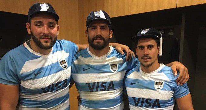 #Rugby #IREvARG La primera vez: Sordoni, Bruni y Díaz Bonilla tuvieron su bautismo en Los Pumas. Photo