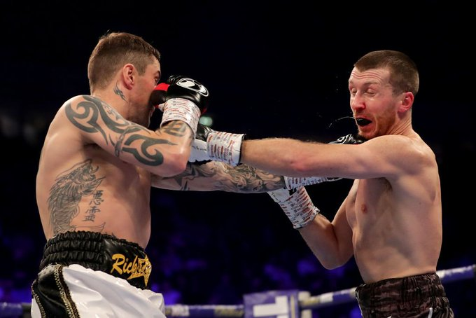 Ricky Burns has just secured his quickest win since 2011. The Scotsman has stopped Scott Cardle in round three. Photo