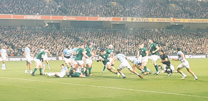 Not an amazing match but a good result & great to be up close to see the man @bundeeaki12 do his thing. Bring on the All Blacks. #IREvARG #IRLvARG Photo