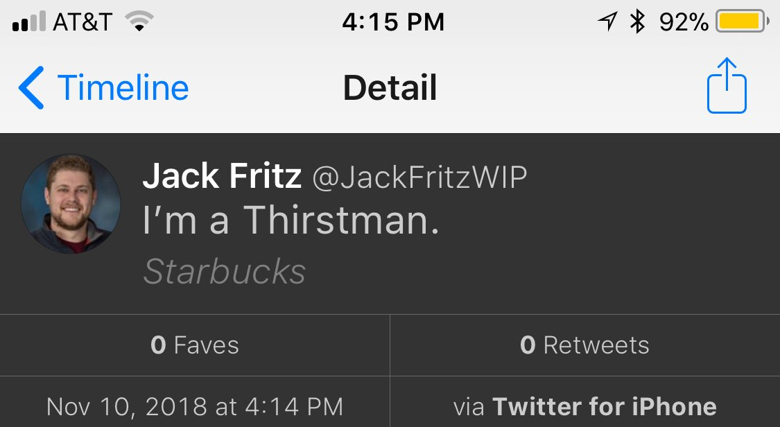 @JackFritzWIP your location really adds to this.