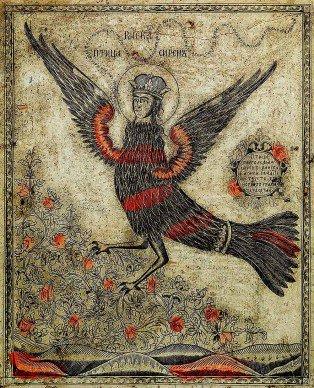 La musica bagna le coste del pensiero. K. Kraus #ScrivoDiMusica 🎨 Lubok, Raiska ptica Siren (L'uccello del paradiso, Sirin) Foto