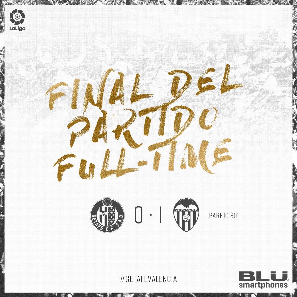 FINAL DEL PARTIT #AmuntValencia 0-1 ⚽ |  #GetafeValencia 🔵🆚🦇 https://t.co/u5FPCpck1O