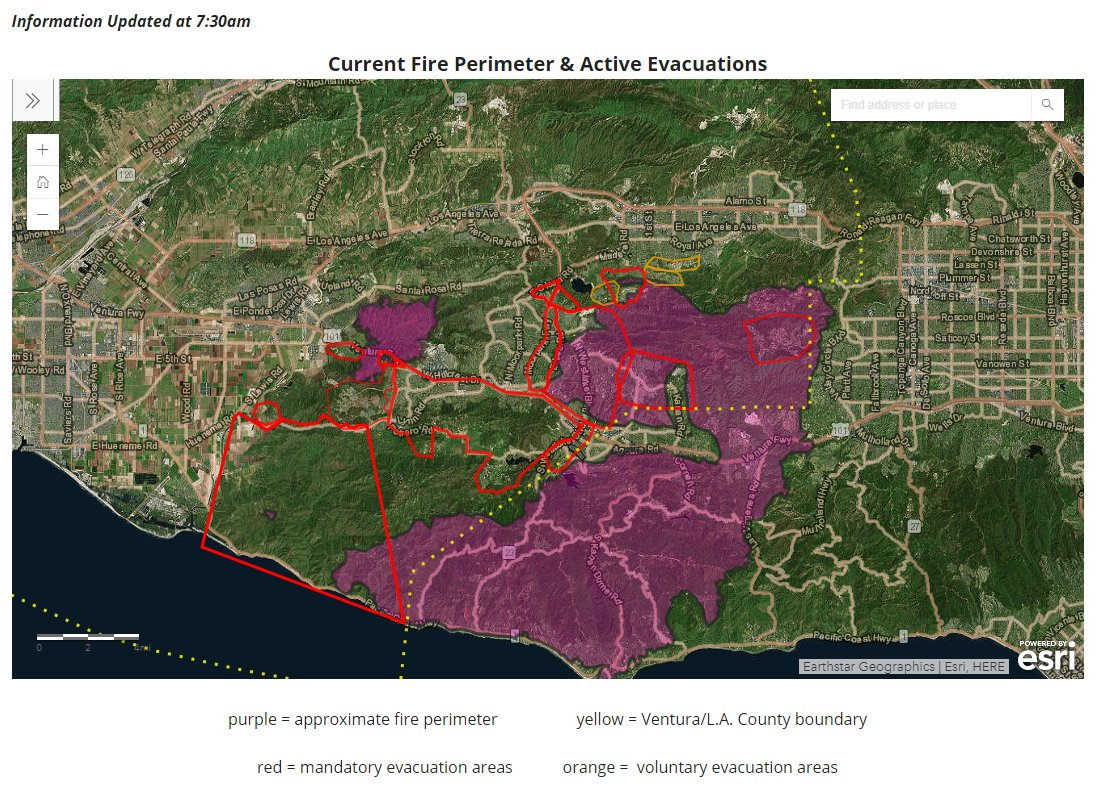 Santa Ana Fire Map.Nws Los Angeles On Twitter Map Of The Fire And Evacuation Area