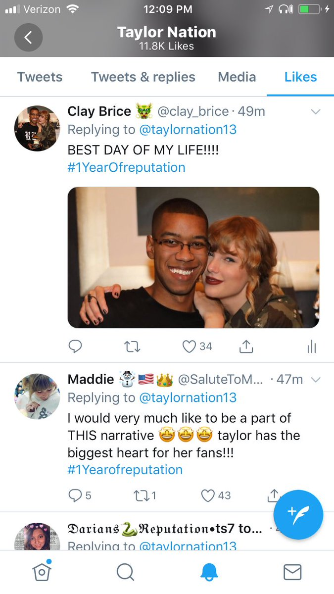 TAYLOR NATION IS ATTACKING ME TODAY! Thank you @taylornation13! #1YearOfReputation