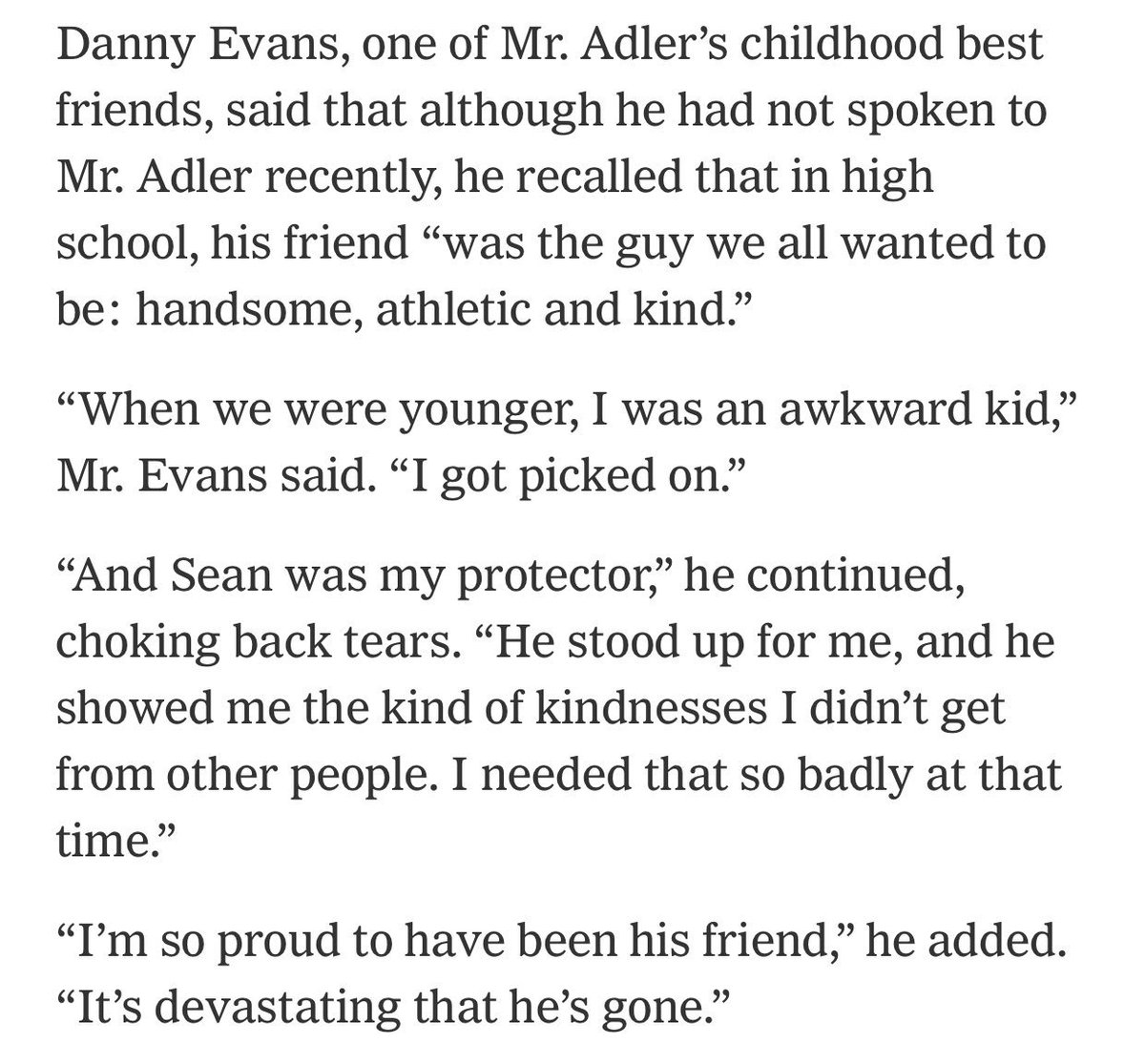 Among the dead in the #ThousandOaks attack was 48 year-old Sean Adler.  (via @nytimes) https://t.co/V6bESWRTKj
