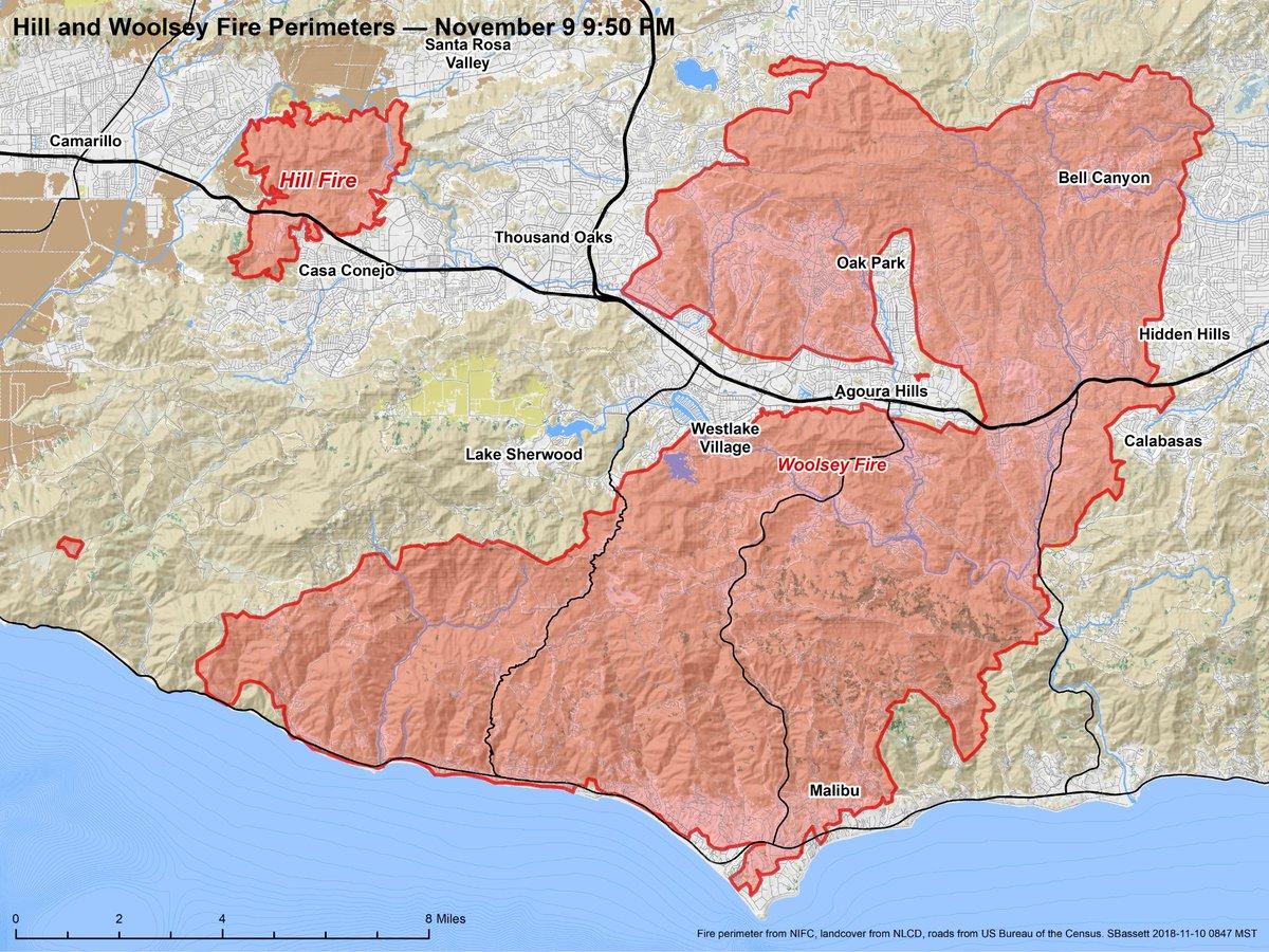 Steve Bassett On Twitter Map Of Woolseyfire Updated Based On