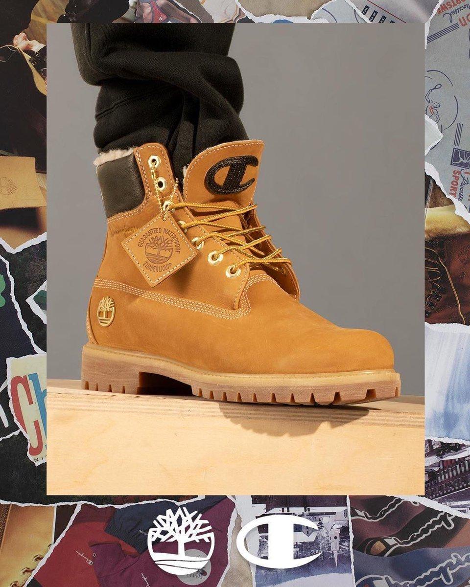 new champion timberland boots