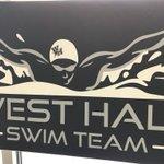 Image for the Tweet beginning: West Hall Swim Team in