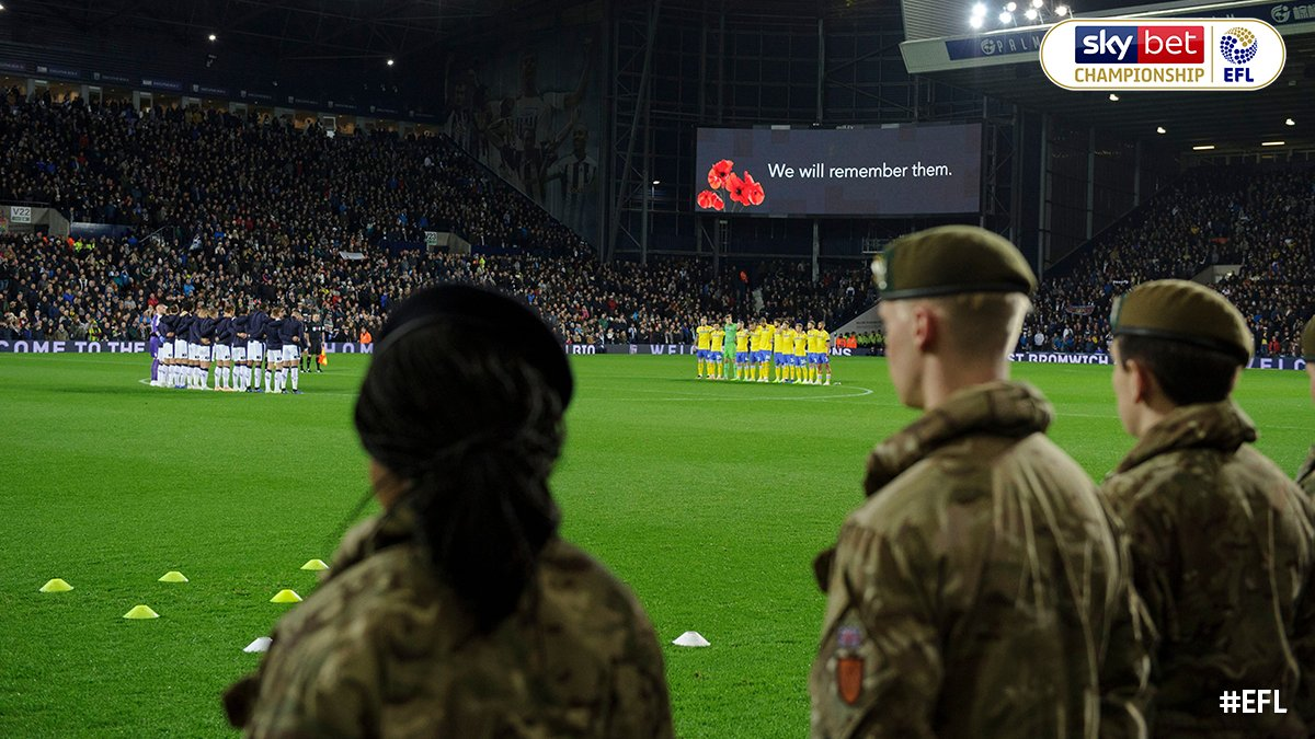 Today the #EFL marked the Armistice Centenary as clubs remembered those who served and sacrificed in the First World War. Bespoke commemorative coins from the Royal British Legion were used for the coin toss at every EFL match. We will remember them. #EFLRemembers ❤️