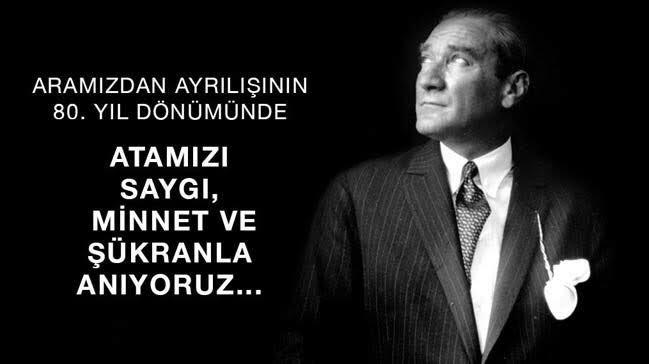 RT @Nevzat_Usar: Ulu önder Mustafa Kemal Atatürk'ü Saygı, minnet ve özlemle anıyoruz. #10Kasım #MustafaKemalAtatürk https://t.co/pFGvfmZWXi