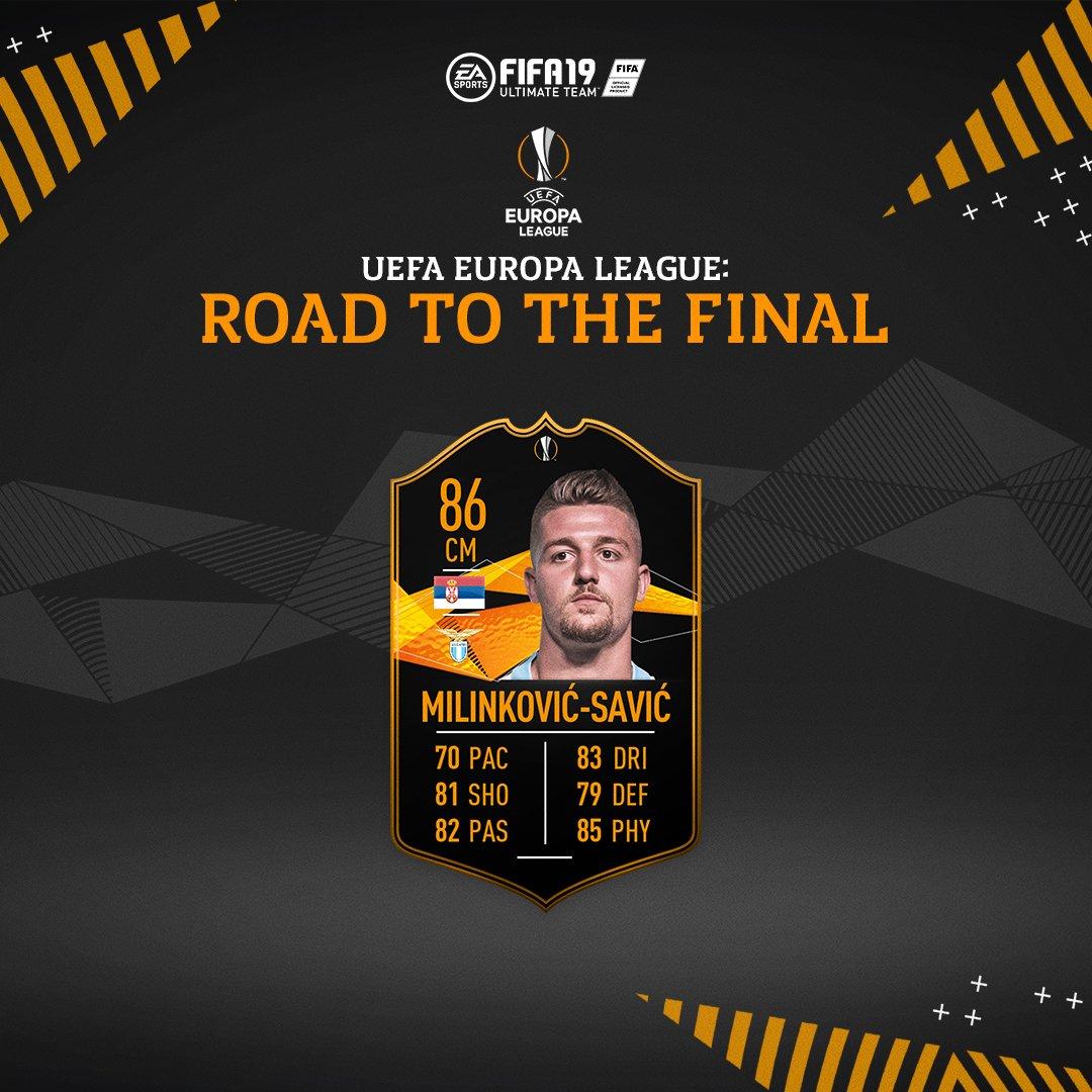 Europa League Road To The Final Sergej Milinković-Savić SBC is now available #FUT #FIFA19 https://t.co/Mss2lIACHr