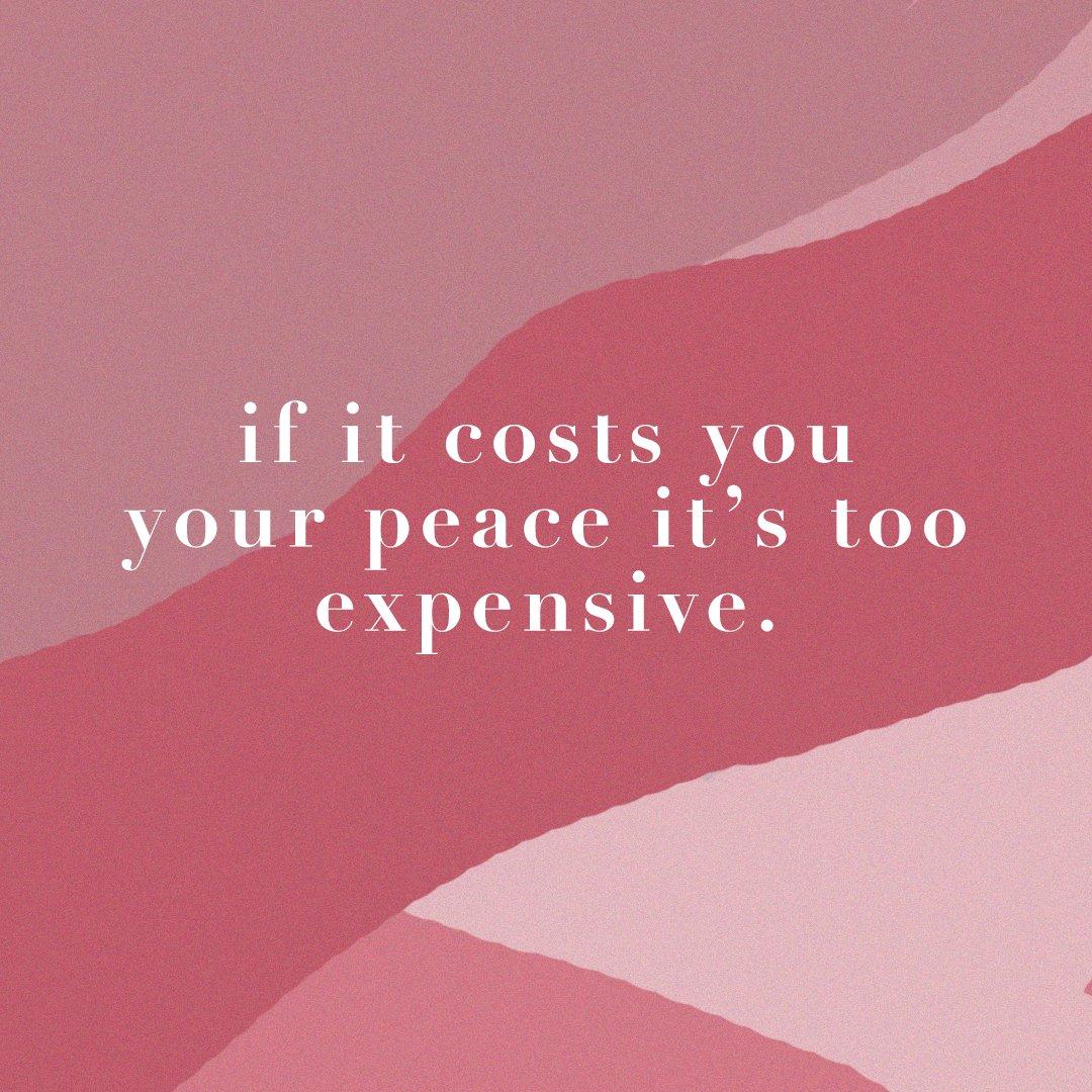 Peace is Priceless. 🕊 #SelfLoveSunday