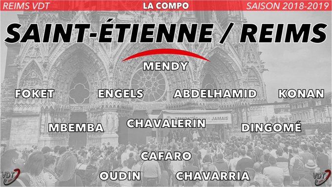 🔴⚪️ La compo de #Reims pour affronter Saint-Etienne | #ASSESDR Allez le Stade 🔴⚪️💪🏻 Photo