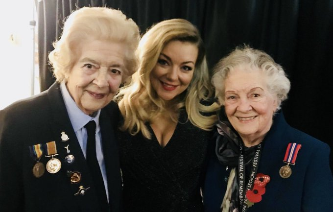An honour to meet Bessie & Sheila, 2 veterans aged 95, who we owe so much to. Humbled to be involved in the Festival of Remembrance. @PoppyLegion @RoyalAlbertHall #FestivalofRemembrance ❤️ Sheridan x Photo