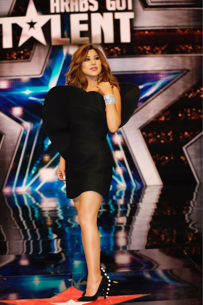 #NKO #BTS photo of #NajwaKaram from the auditions of #ArabsGotTalent!  https://t.co/L6PGEcTtAS